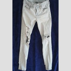 American Eagle super stretch x distressed jegging